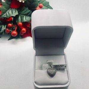 Jewelry - 14 KT Diamond Heart Charm with Gallery